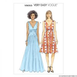 Patron Vogue V9053: Robe en V