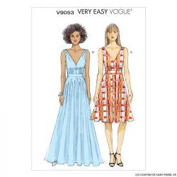 Patron Vogue V9053: Robe en V