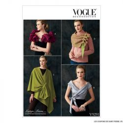 Patron Vogue V9291 : Châle, boléro et écharpe