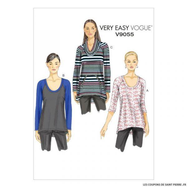 Patron Vogue V9055: Haut
