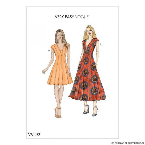 Patron Vogue V9292 : Robe découpe princesse