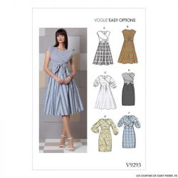 Patron Vogue V9293 : Robe nouée