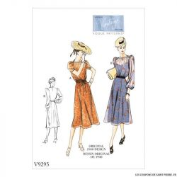 Patron Vogue V9295 : Robe vintage