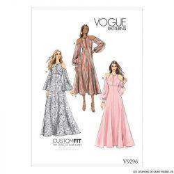 Patron Vogue V9296 : Robe épaules dénudées