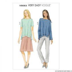 Patron Vogue V9063: Haut, Jupe ou pantalon