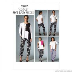 Patron Vogue V9067: Haut et pantalon