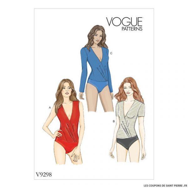 Patron Vogue V9297 : Body croisé