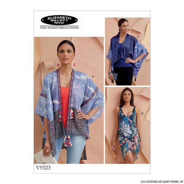 Patron Vogue V1583 : Paréo de plage