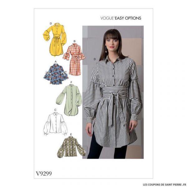 Patron Vogue V9299 : Haut et ceinture