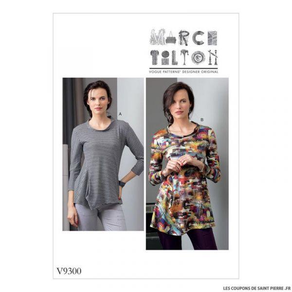 Patron Vogue V9300 : Haut jersey