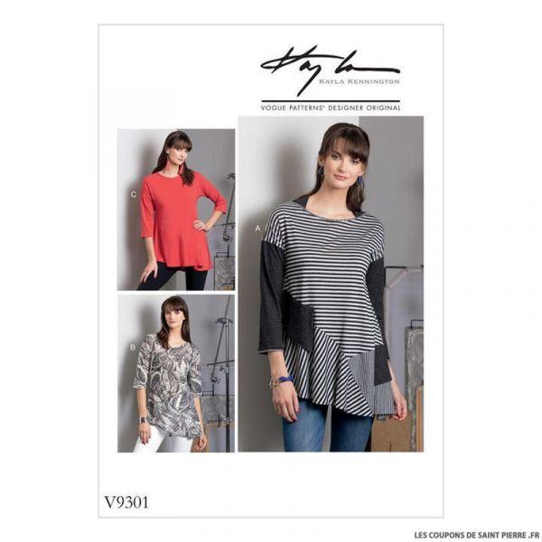 Patron Vogue V9301 : Haut asymétrique