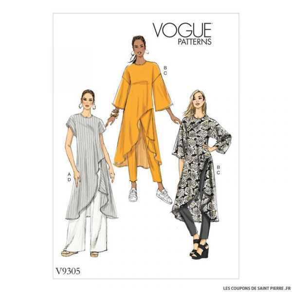 Patron Vogue V9305 : Tunique et pantalon