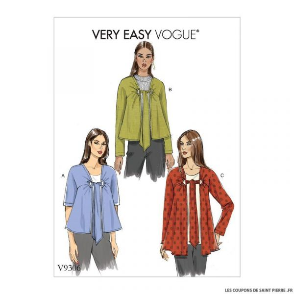 Patron Vogue V9306 : Veste
