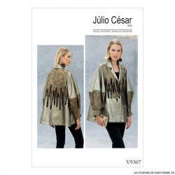 Patron Vogue V9307 : Veste ample