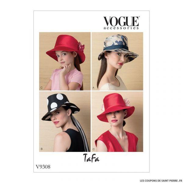 Patron Vogue V9308 : Chapeaux