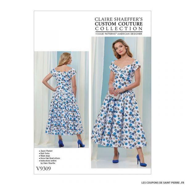Patron Vogue V9309 : Robe