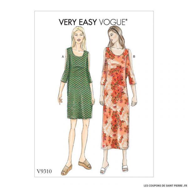 Patron Vogue V9310 : Robe