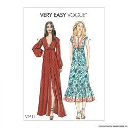Patron Vogue V9311 : Robe longue