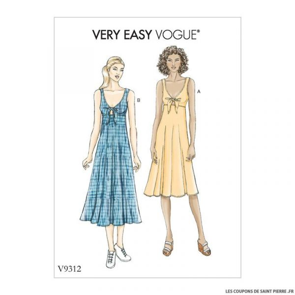 Patron Vogue V9312 : Robe