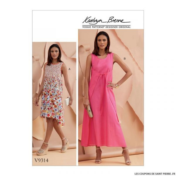Patron Vogue V9314 : Robe