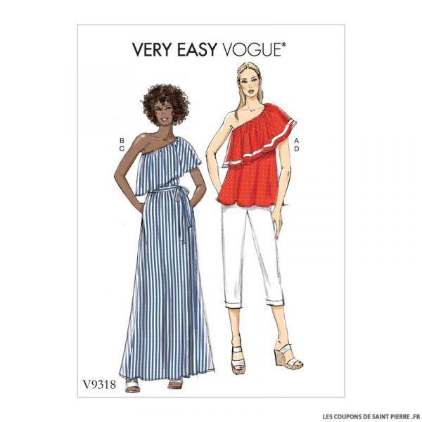 Patron Vogue V9318 : Haut, jupe et pantalon