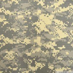 Gabardine de coton pixel Camouflage
