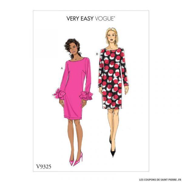 Patron Vogue V9325: Robe noeud papillon