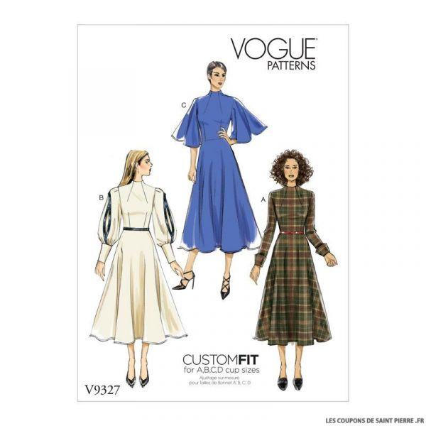 Patron Vogue V9327: Robe fantaisie