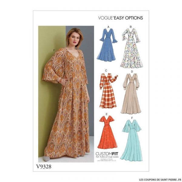 Patron Vogue V9328: Robe
