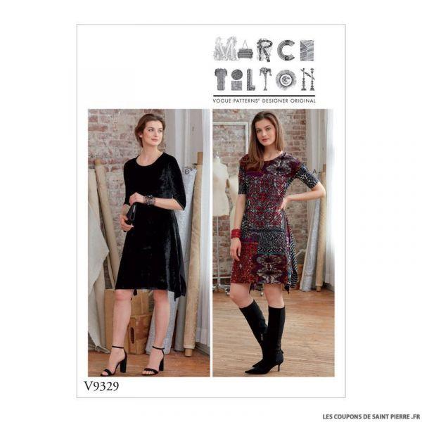 Patron Vogue V9329: Robe facile