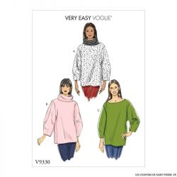 Patron Vogue V9330: Haut ample