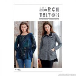 Patron Vogue V9332 : Haut avec poches