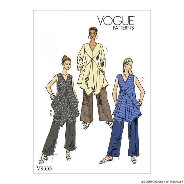 Patron Vogue V9335: Tunique