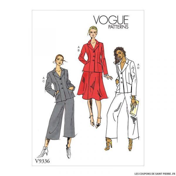 Patron Vogue V9336: Veste, jupe et pantalon