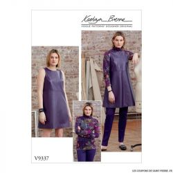 Patron Vogue V9337 : Haut, tunique, pantalon