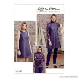Patron Vogue V9337 : Haut, tunique, pantalon