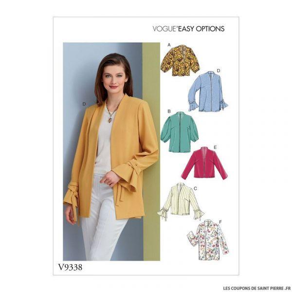 Patron Vogue V9338: Veste