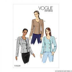 Patron Vogue V9339: Veste haute couture