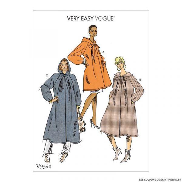 Patron Vogue V9340 : Manteau