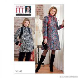 Patron Vogue V1592: Robe Manteau