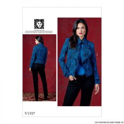 Patron Vogue V1597: Veste ajustée