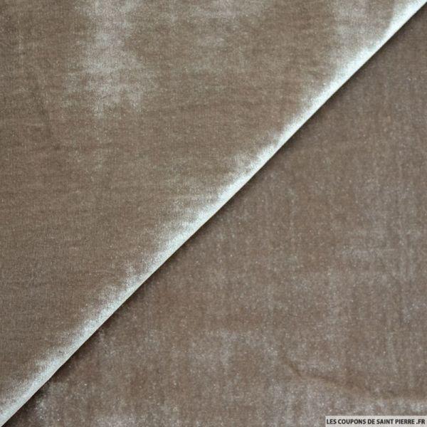 Velours de soie muscade
