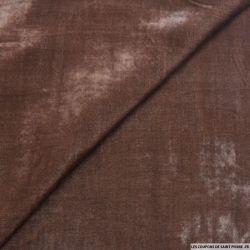 Velours de soie broux de noix