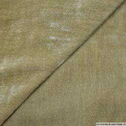 Velours de soie vert tilleul