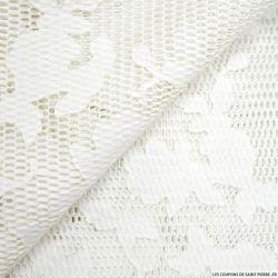 Maille 3D dentelle blanc cassé