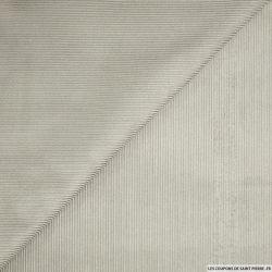 Velours côtelé gris clair