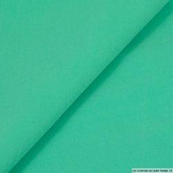 Toile de soie élasthane vert