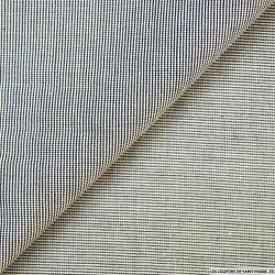 Coton pied de puce noir et blanc