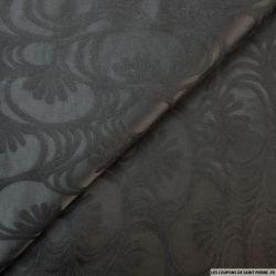 Jacquard de laine motif ton sur ton noir