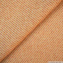 Tweed polyviscose ambre